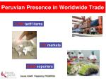 peruvian presence in worldwide trade