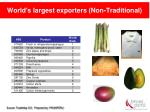 world s largest exporters non traditional