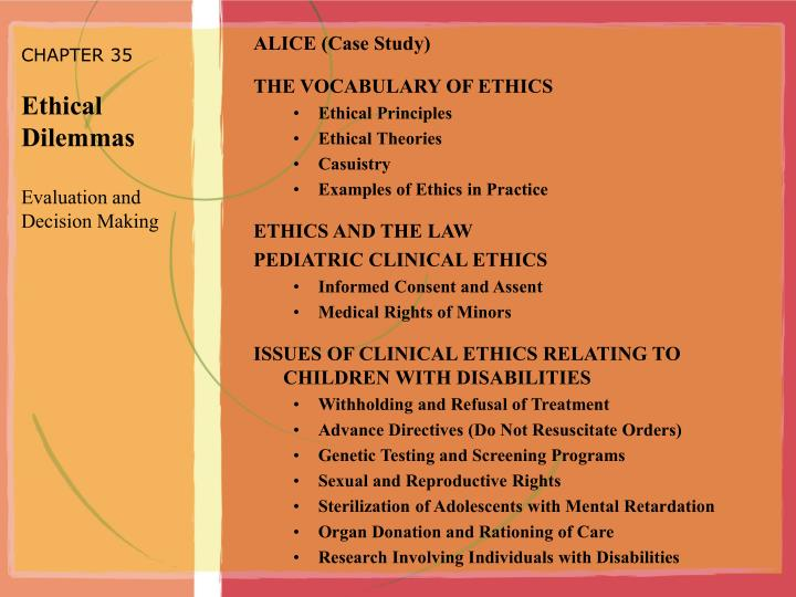 Ethical Decision Making Examples
