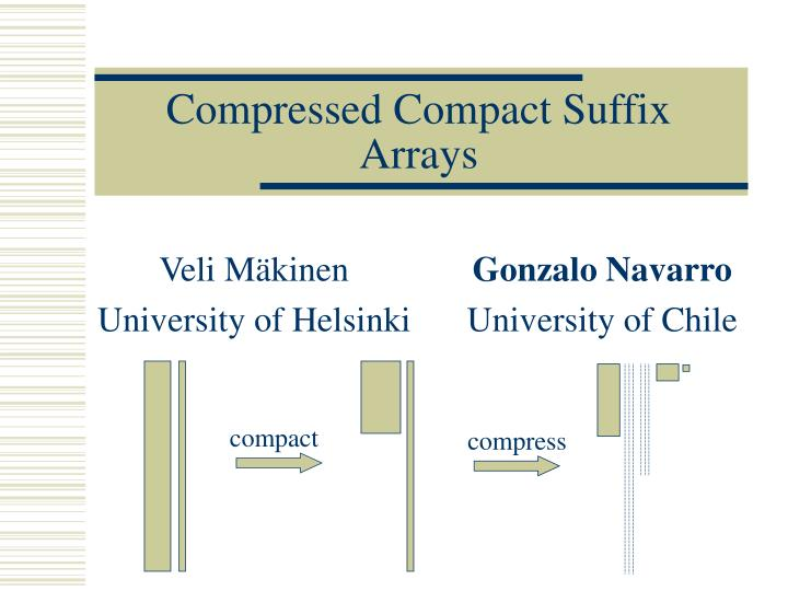 compressed compact suffix arrays n.