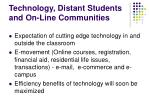 technology distant students and on line communities1