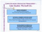 c omputer based k nowledge m anagement case studies microsoft inc4
