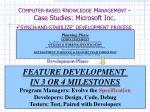 c omputer based k nowledge m anagement case studies microsoft inc5