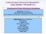c omputer based k nowledge m anagement case studies microsoft inc6