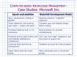 c omputer based k nowledge m anagement case studies microsoft inc8