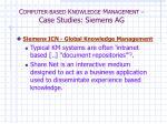 c omputer based k nowledge m anagement case studies siemens ag3