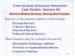 c omputer based k nowledge m anagement case studies siemens ag36