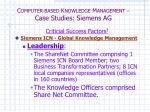 c omputer based k nowledge m anagement case studies siemens ag5