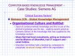c omputer based k nowledge m anagement case studies siemens ag6