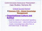 c omputer based k nowledge m anagement case studies siemens ag7
