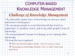c omputer based k nowledge m anagement2