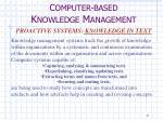 c omputer based k nowledge m anagement7