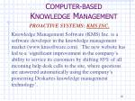 c omputer based k nowledge m anagement8