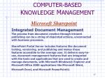 computer based k nowledge m anagement4