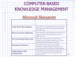 computer based k nowledge m anagement5