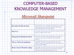 computer based k nowledge m anagement6