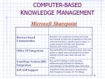 computer based k nowledge m anagement7