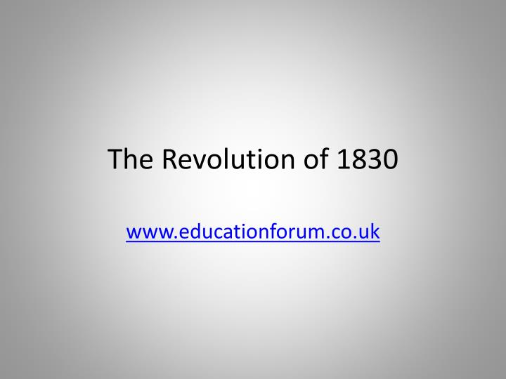 the revolution of 1830 n.