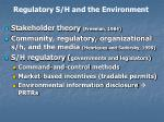 regulatory s h and the environment1