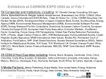 exhibitors at carbon expo 2005 as of feb 1
