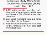 depression study maine state government employee som health plan 1997
