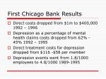 first chicago bank results