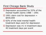 first chicago bank study