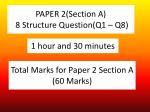 paper 2 section a 8 structure question q1 q8