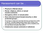 harassment can be