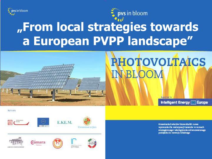 area development area from local strategies towards a european pvpp landscape n.