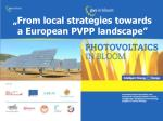 area development area from local strategies towards a european pvpp landscape
