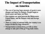 the impact of transportation on america