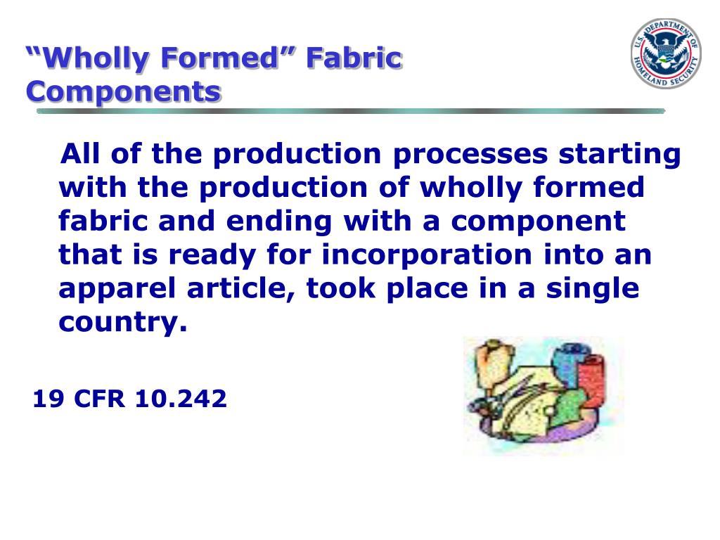 """Wholly Formed"" Fabric Components"