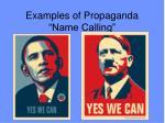 examples of propaganda name calling