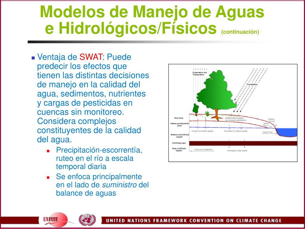 Modelos de Manejo de Aguas e Hidrológicos/Físicos