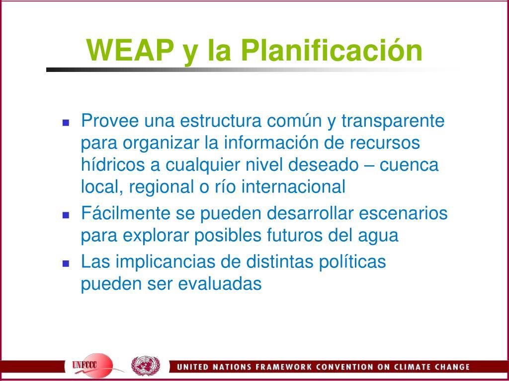 WEAP y la Planificación