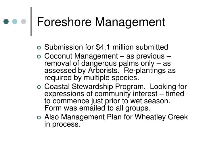 Foreshore Management
