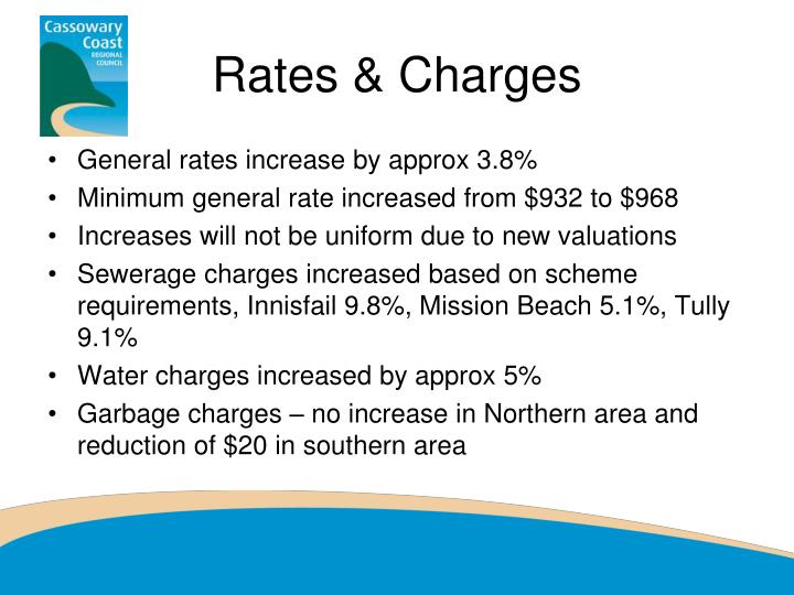 Rates & Charges