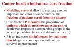 cancer burden indicators cure fraction