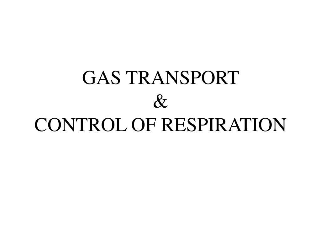 gas transport control of respiration