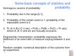 some basic concepts of statistics and probability2