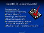 benefits of entrepreneurship