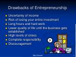 drawbacks of entrepreneurship2