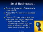 small businesses1