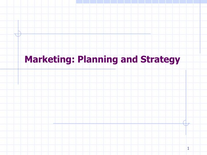 marketing planning and strategy n.