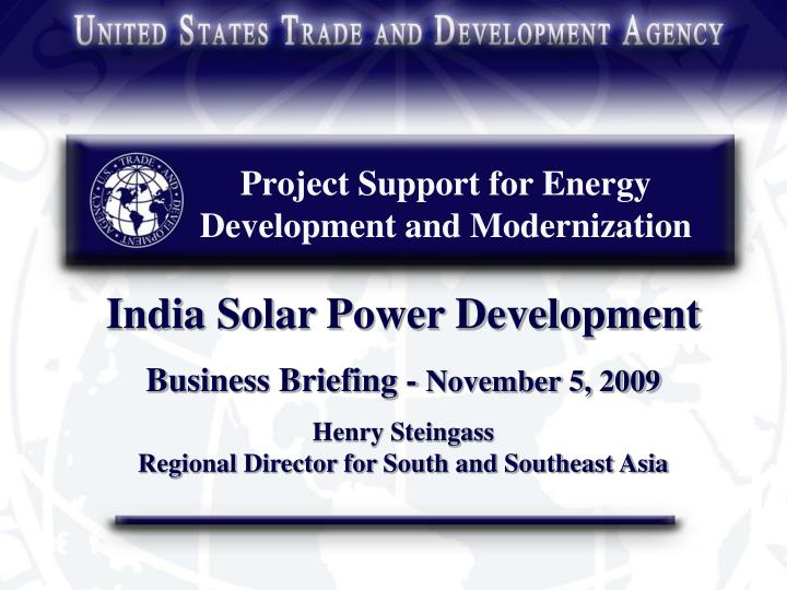 project support for energy development and modernization n.