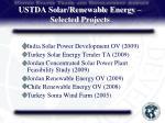 ustda solar renewable energy selected projects