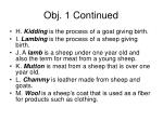 obj 1 continued