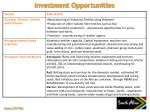 investment opportunities1