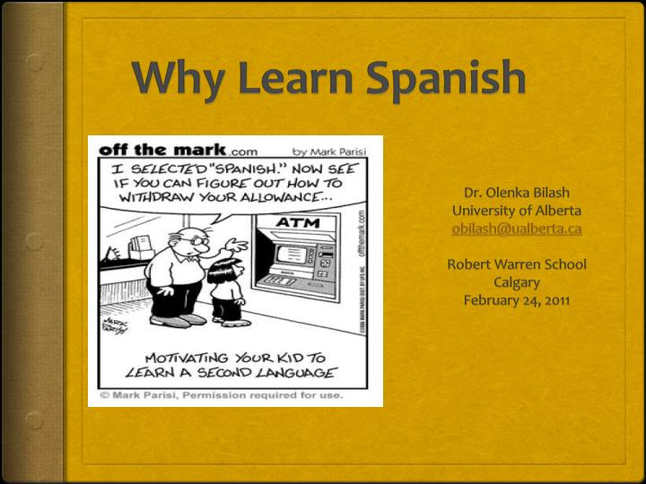 why learn spanish n.